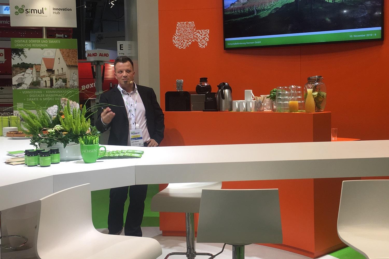 EXPRESS-Projektleiter Ingolf Römer während seines Vortrags auf der Agritechnica 2019